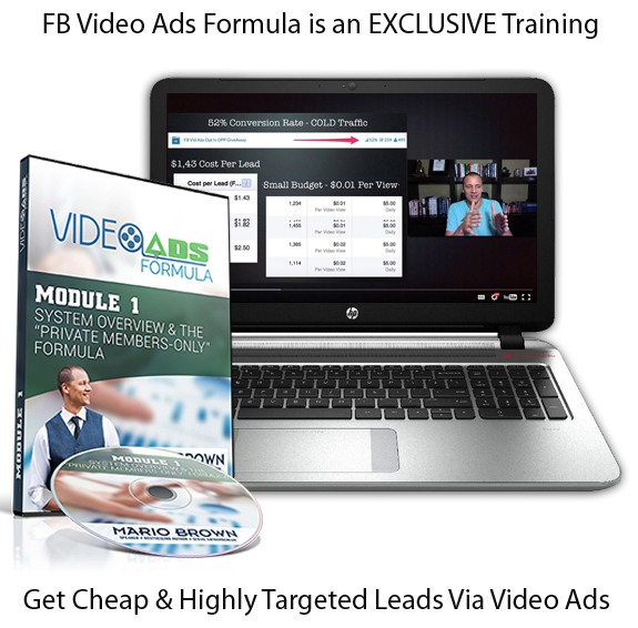 FB Video ADS Formula Mario Brown INSTANT ACCESS