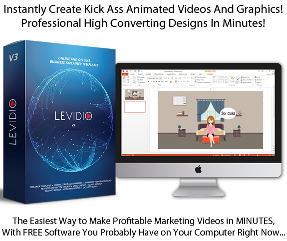 Levidio Vol 3 INSTANT Download COMPLETE Explainer Video Templates