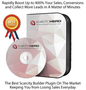 Scarcity Hero Countdown Timer Plugin INSTANT Download!