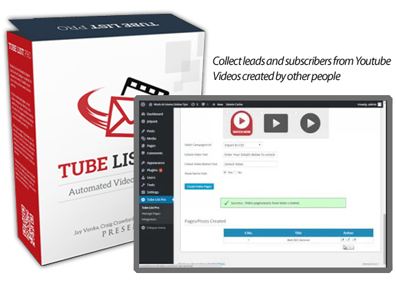 Tube List Pro 100% Working INSTANT Download Unlimited