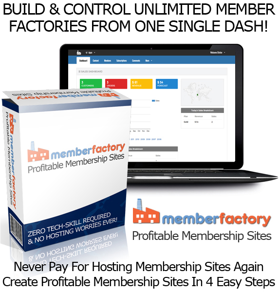 Lifetime Access Member Factory Software Best Membership Site Builder