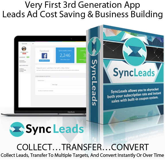 Sync Leads Software FULL ACCESS! For Unlimited FB Accounts