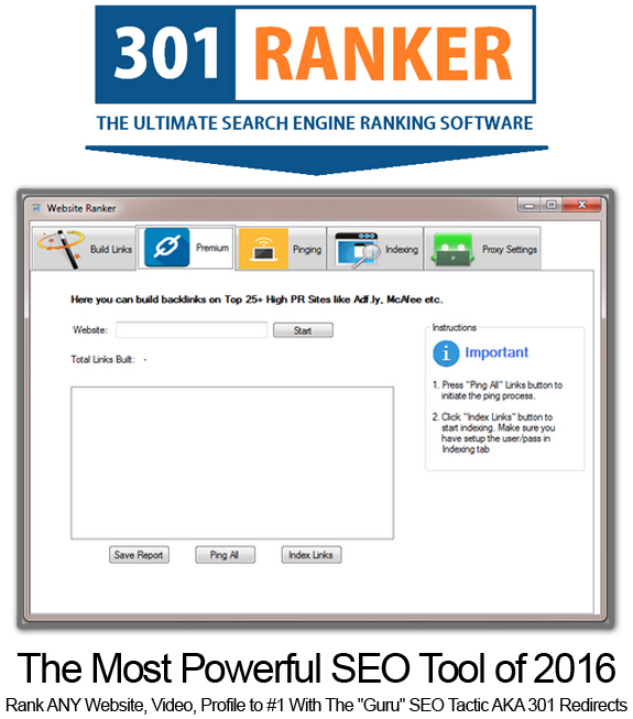 301 Ranker Pro UNLIMITED ACCESS!!! Powerful Link Building Tool