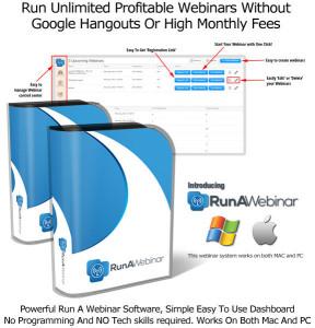 Run A Webinar Software By Sam Bakker FULL ACCESS UNLIMITED