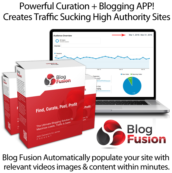BlogFusion Blogging APP Instant Download By OJ James