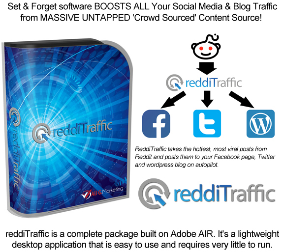 ReddiTraffic Killer Software Curates Viral Content Lifetime Access!