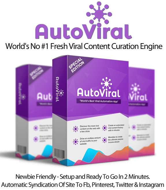AutoViral Pro License Viral Content Curation Instant Download