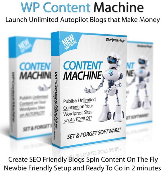 WP Content Machine Personal License Instant Access Newbie-Friendly