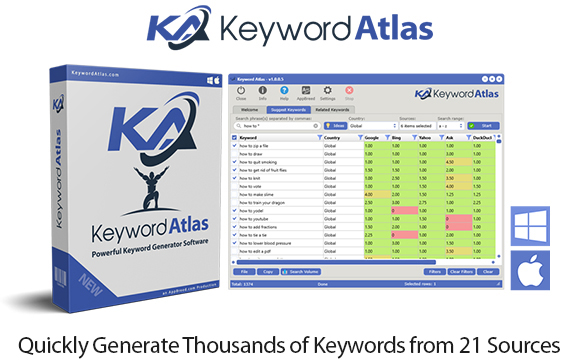 Keyword Atlas Software Instant Download Pro License By Dave Guindon